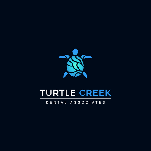 River logo with the title 'Logo design for Turtle Creek'