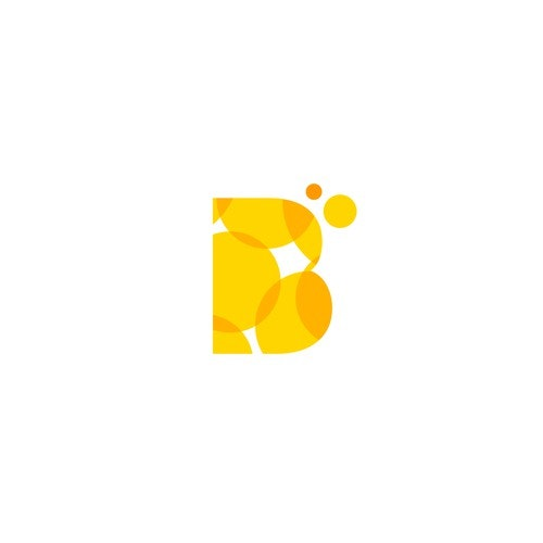 Orange logo with the title 'B + Bubbles'