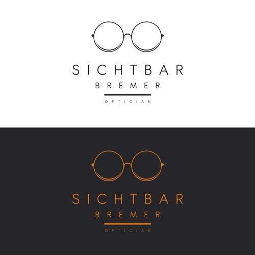 Optical logo with the title 'Sichtbar logo'