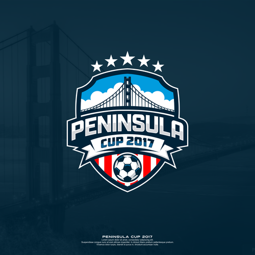 Badge logo with the title 'logo badge to club soccer tournament'