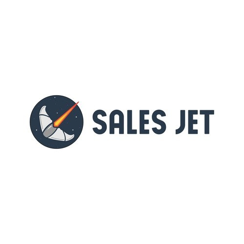 Jet logo with the title 'Sales Jet Logo Concept'