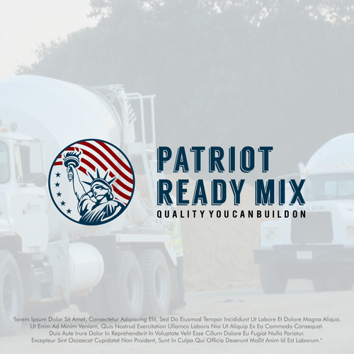 Patriot logo with the title 'Patriot Ready Mix'