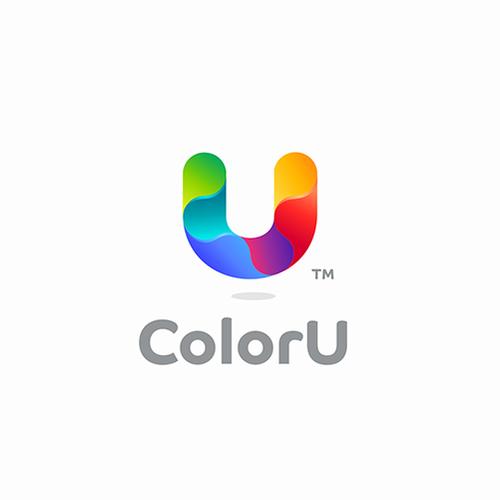 Rainbow logo with the title 'ColorU Logo'