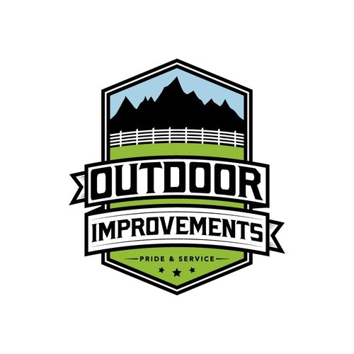 Banner logo with the title 'Vintage Logo for Outdoor Improvements'