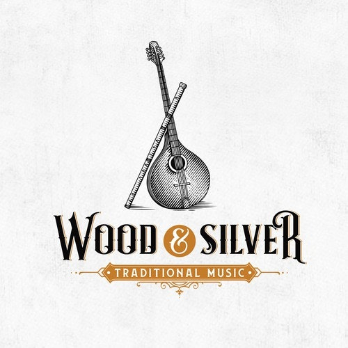 Traditional logo with the title 'Wood & Silver'