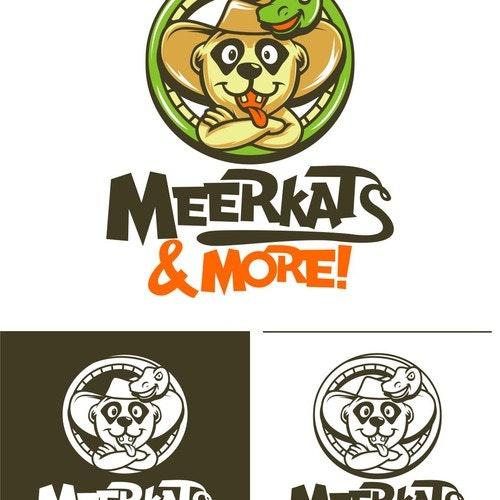 Snake logo with the title 'MEERKATS SNAKE VECTOR ILLUSTRATION'