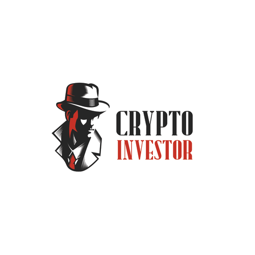 Bitcoin logo with the title '1940s-style Detective Who Investigates Cryptocurrencies'