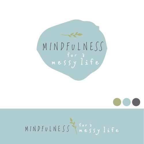 Mindfulness logo with the title 'Earthy logo with integrity for online course'