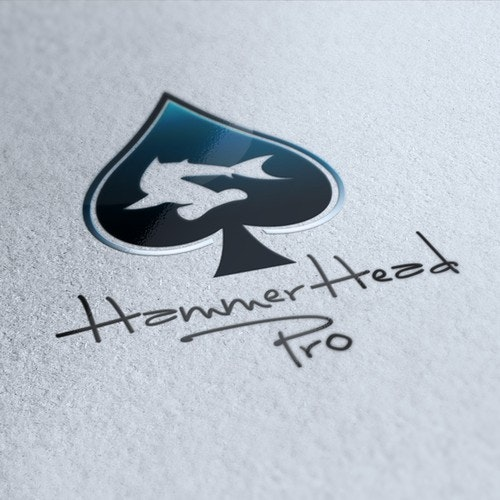 Poker logo with the title 'Hammerhead Pro Logo Design'