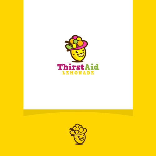 Lemonade logo with the title 'A concept logo for fruits products'