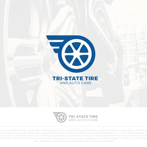 Tire logo with the title 'Tri-State Tire '