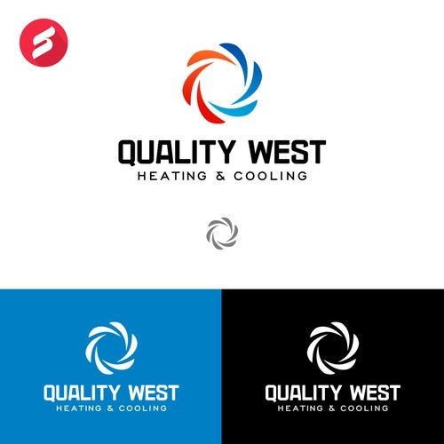 Cooling logo with the title 'Quality West Heating & Cooling'