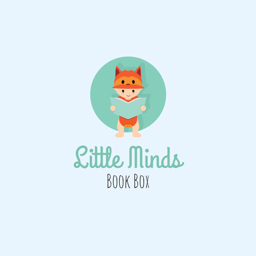 Parent logo with the title 'Little Minds - Logo for child story books'