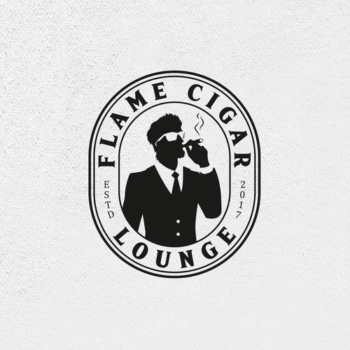 Lounge logo with the title 'Flame Cigar Lounge'