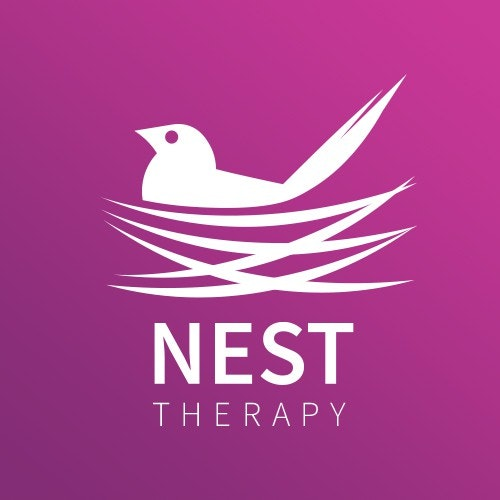 Counseling logo with the title 'Logo Concept for Nest Therapy'