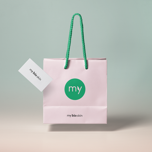 "Presentation logo with the title 'Logo for Bio cosmetic brand ""My bio skin""'"