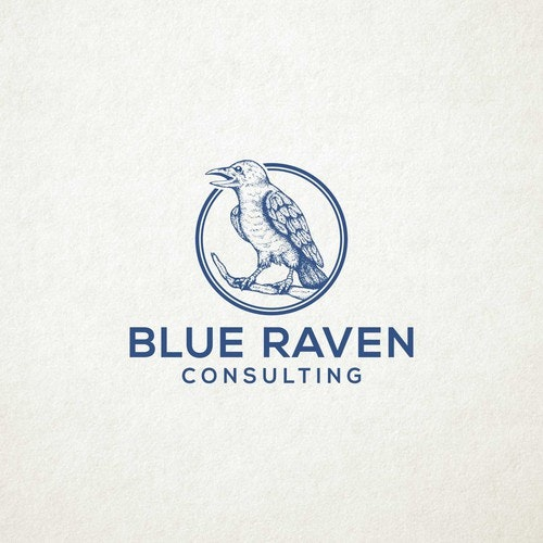 Consultant logo with the title 'logo for BLUE RAVEN'