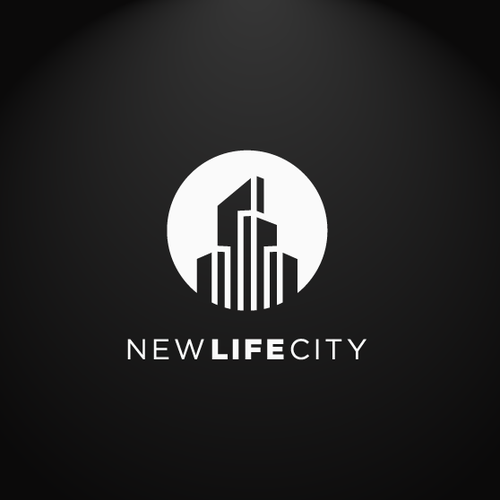Church logo with the title 'New Life City'