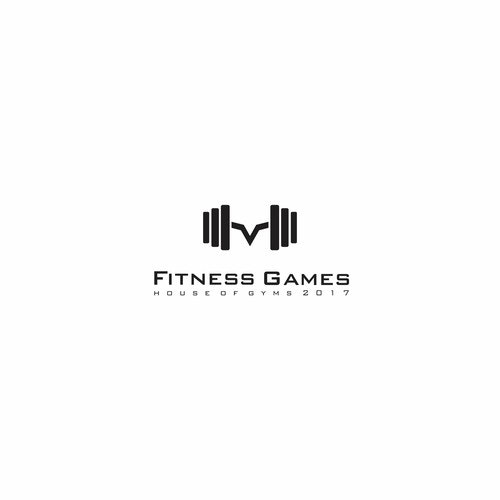 Dumbbell logo with the title 'Fitness Games'