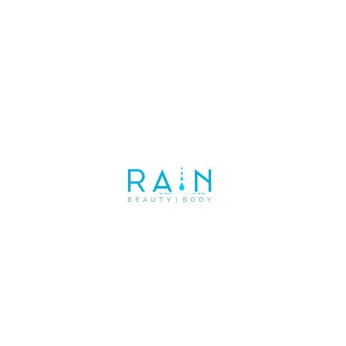 Rain logo with the title 'Rain / Beauty & Body Logo Design'