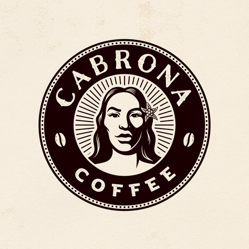 Mexican logo with the title 'Cabrona Coffee'