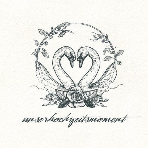 Photography logo with the title 'Unserhochzeitsmoment logo'