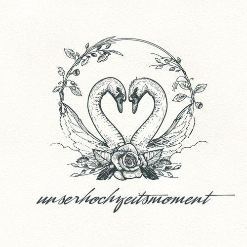 Rose logo with the title 'Unserhochzeitsmoment logo'