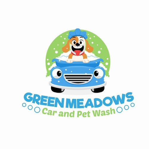 Pet care logo with the title 'Fun Logo for Pet and Car wash'