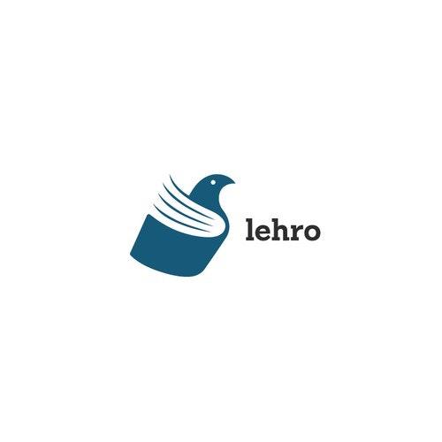Book logo with the title 'Creative logo for Lehro'