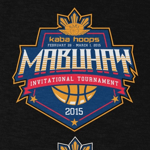 Basketball t-shirt with the title 'KABA HOOPS TORNAMENT SHIRT'