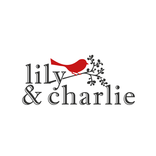Cute logo with the title 'cute bird on a branch'