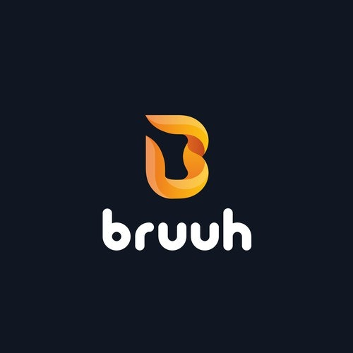 Movement logo with the title 'Bruuh logo design'