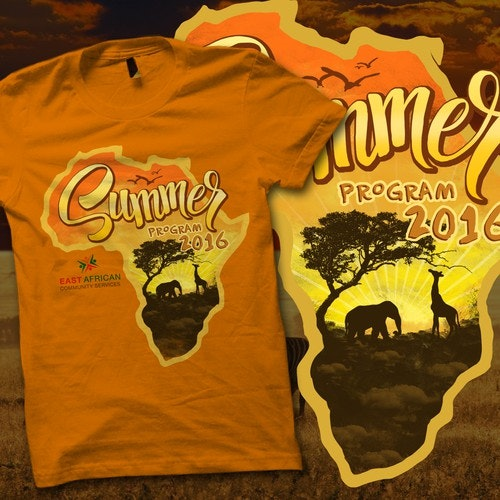 Wild t-shirt with the title 'SUMMER EAST AFRICAN 2016'