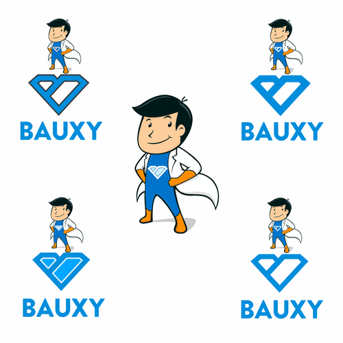 Hero logo with the title 'bauxy'