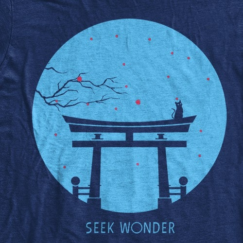 Japanese t-shirt with the title 'Seek Wonder'