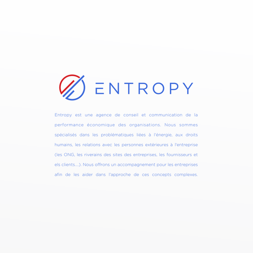 E logo with the title 'Entropy'