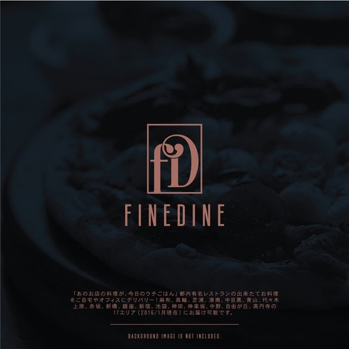 Hotel logo with the title 'FineDine '