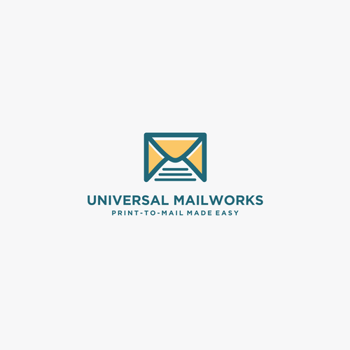 Worker logo with the title 'UNIVERSAL MAILWORKS'