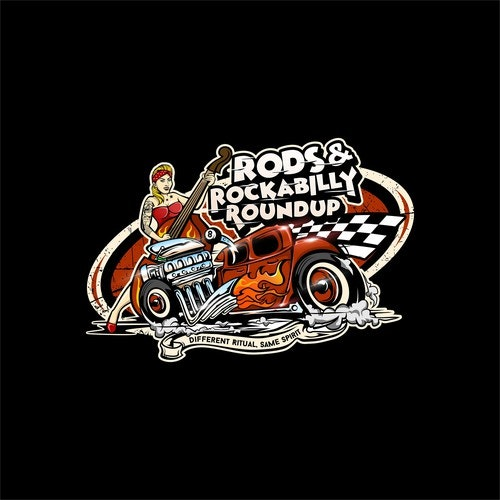 Hot rod logo with the title 'Rods '