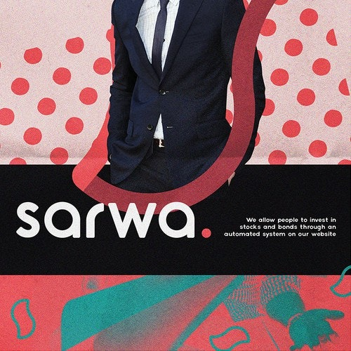 Fancy logo with the title 'sarwa.'