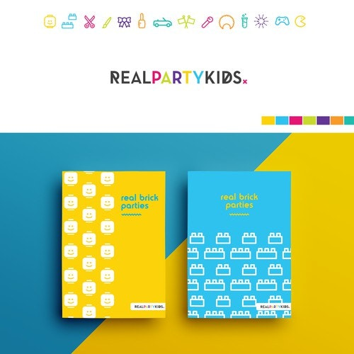 """Party logo with the title 'Logo design for """"Real Party Kids""""'"""