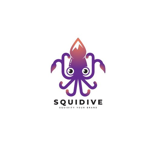 Squid logo with the title 'Logo Concept for Squidive'