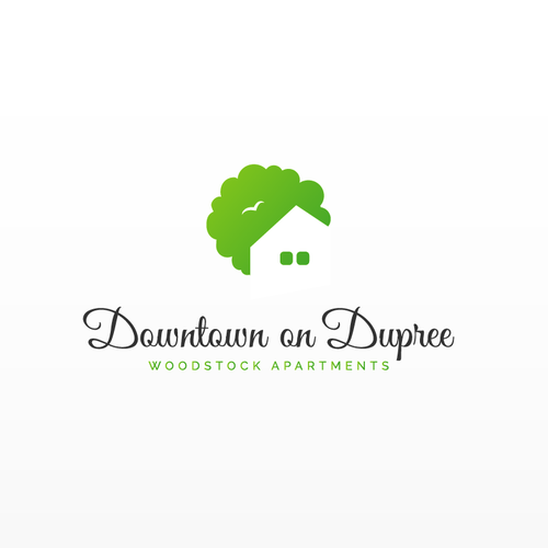 Apartment logo with the title 'Logo design - Downtown on Dupree'