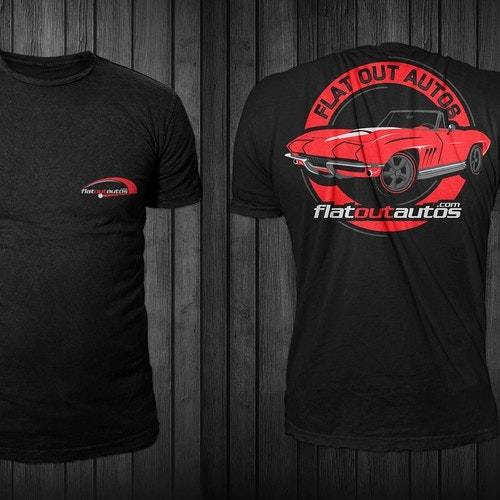 T-shirt with the title 'FlatOutAutos t-shirt'