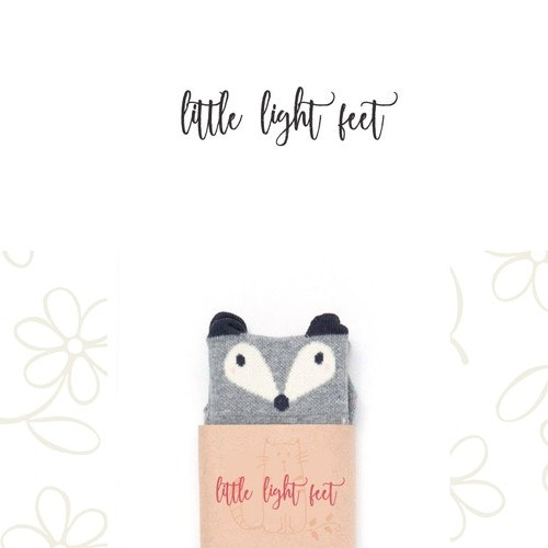 Kid's clothing logo with the title 'Whimsical logo for Little Light Feet (children's fashion)'