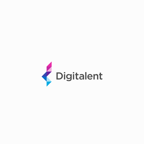 D logo with the title 'Digitalent - IT consultancy company'