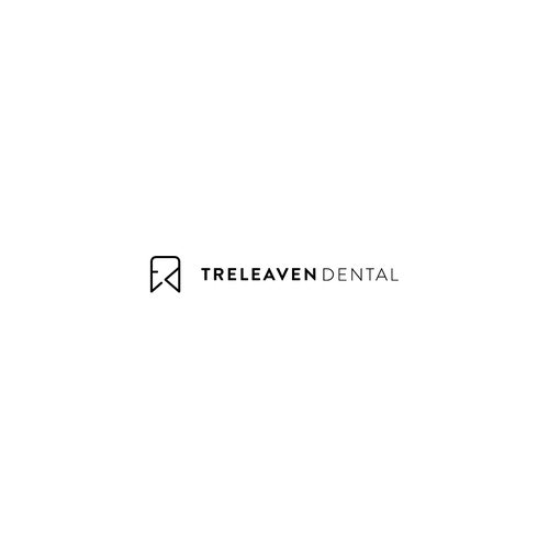 Teeth logo with the title 'clean yet unique logo design for treleaven dental'