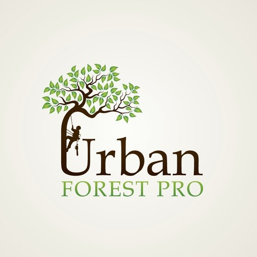 Forest logo with the title 'Urban Forest Pro'