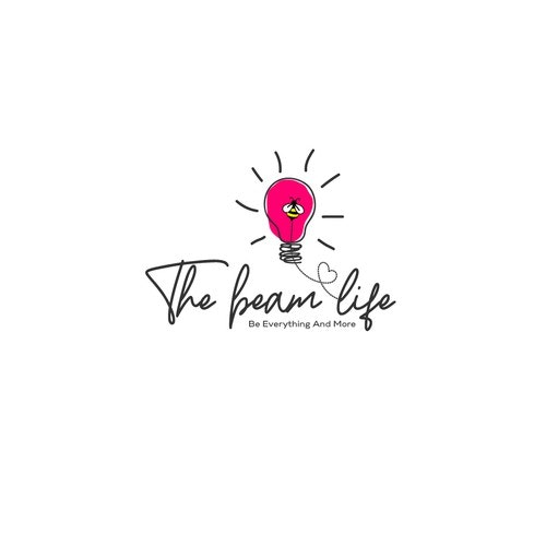 Motivational logo with the title 'The Beam Life'