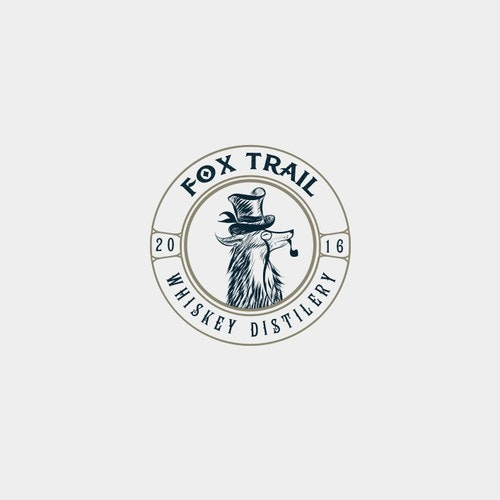 Whiskey logo with the title 'Logo for whiskey distillery'